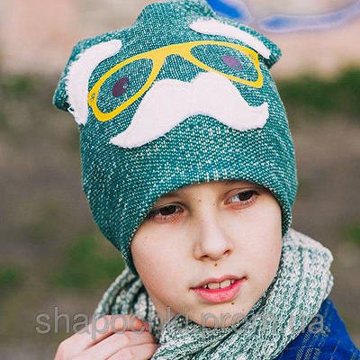 """Стильная шапка для мальчика """"Ап"""""""