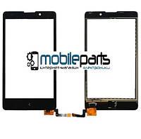 Оригинальный Сенсор (Тачскрин) для Nokia XL Dual Sim (RM-1030) (Черный)