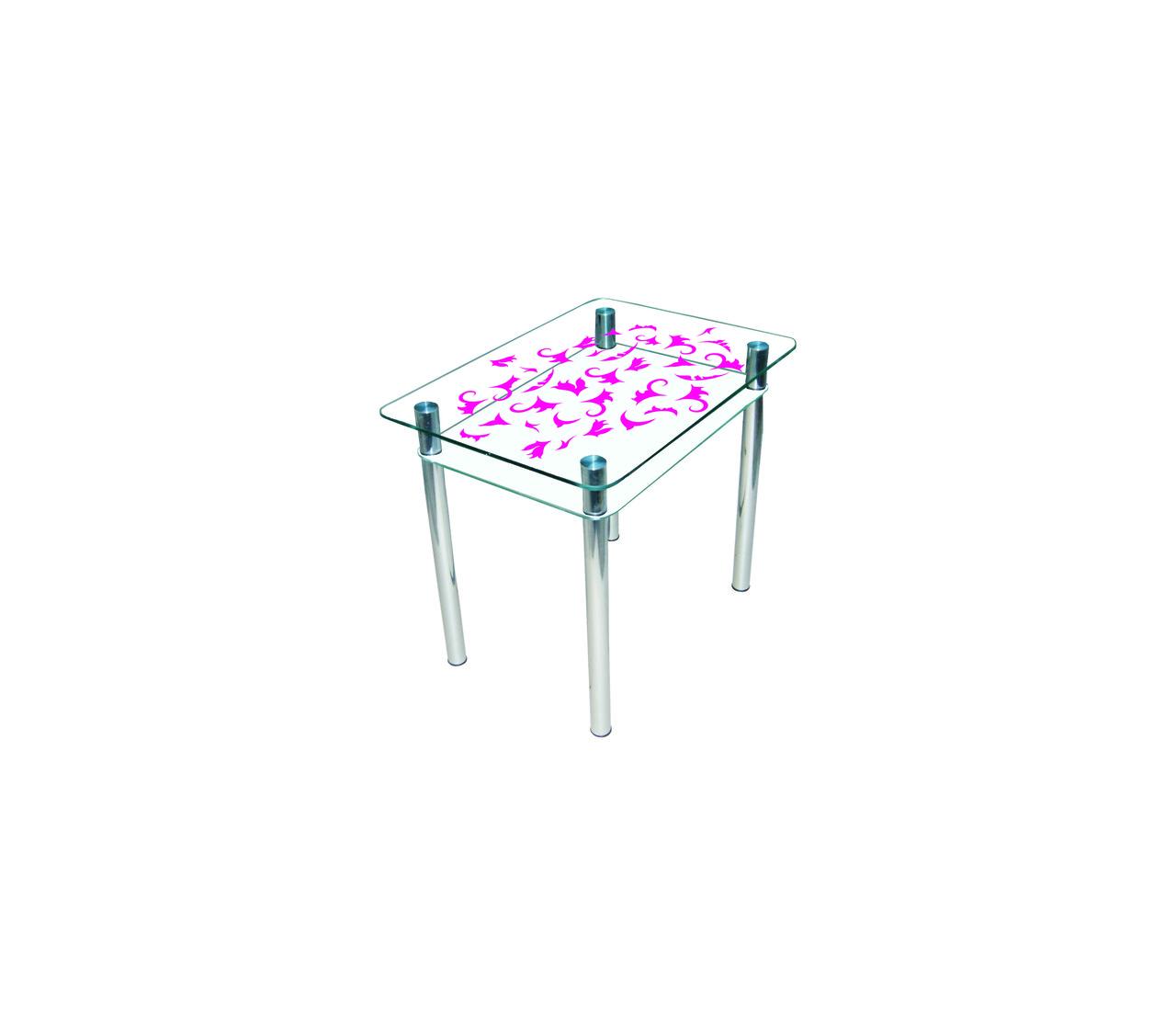 Стол стеклянный двухполочный Sentenzo Простор