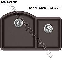 Прямоугольная гранитная мойка 810х520 мм. Aquasanita (Литва) Arca SQA-220, монтаж под или в столешницу