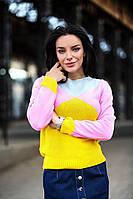 Женский стильный вязаный свитер В30213