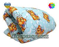 Детский комплект: одеяло и подушка-синтеон- синий
