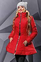 Стёганная куртка осень-зима  2350,красный ( 44-50)