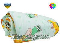 Детский комплект: одеяло и подушка-синтеон- зеленый
