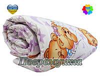 Детский комплект: одеяло и подушка-синтеон- фиолетовый