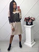 Красивое платье-туника с кружевом