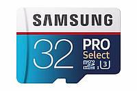 Карта памяти Samsung 32GB 100MB/s (U3) MicroSD PRO Select Memory Card
