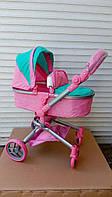 Коляска-трансформер для кукол Melogo 9695, мятно-розовая ***
