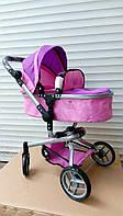 Коляска-трансформер для кукол Melogo 9695, фиолетово-розовая ***