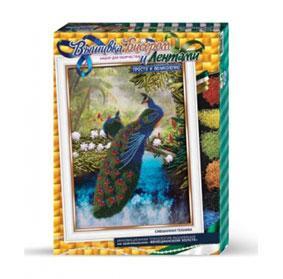 Набор для вышивания лентами и бисером - Павлини Данко тойс