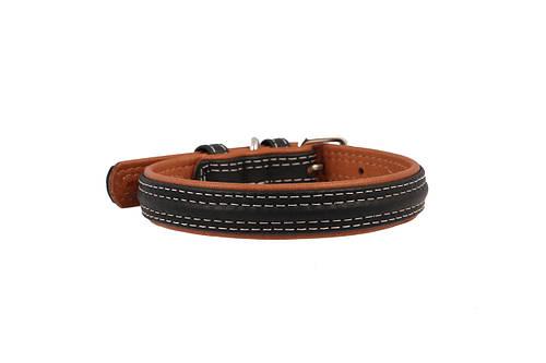 Ошейник кожаный без украшений Collar Soft 38-49 см 25 мм