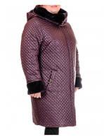 Утепленная модель женского демисезонного пальто-куртки