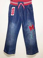Детские джинсы на девочку с вышивкой