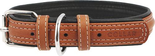 Ошейник кожаный без украшений Collar Soft 46-60 см 35 мм