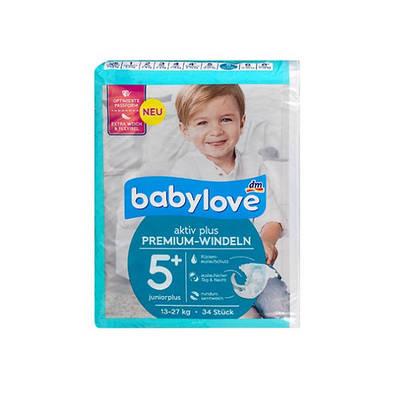 Подгузники Babylove Aktiv Plus JuniorPlus 5+ (13-27 кг), 34шт.