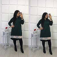 Платье-рубашка с дорогим кружевом