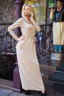 Платье «Майами» с капюшоном и тонким пояском