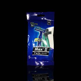 Станки для бритья Max, 5 шт/уп с резиновой ручкой и полоской