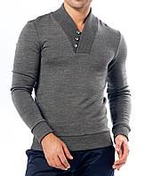 Пуловер мужской темно серый, оптом и в розницу: M- 4805