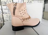Ботинки кожаные женские демисезонные 36, 37, 38, 39, 40, 41 размеры, фото 1