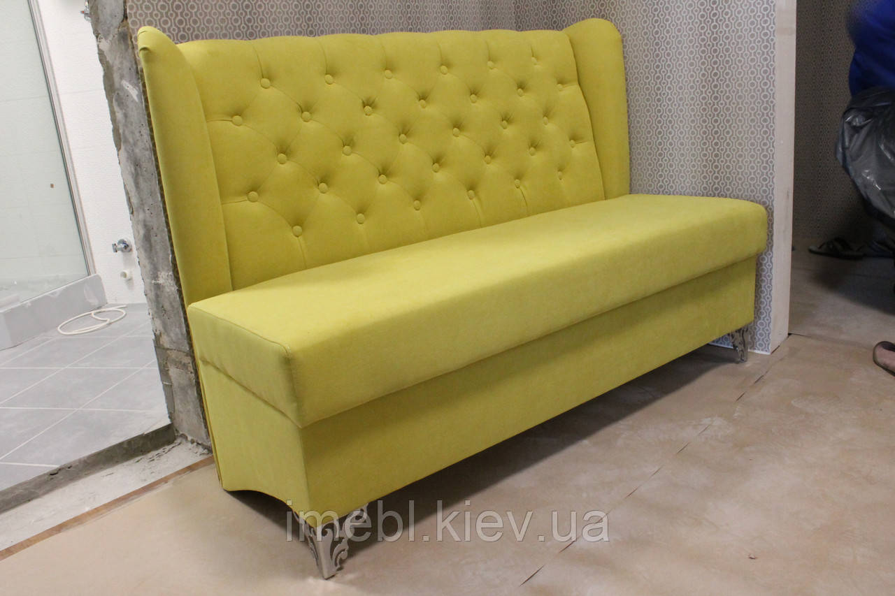 мягкий диванчик в прихожую или кухню яркий салатовый на заказ
