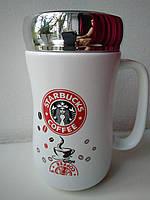 Чашка Starbucks керамическая с ручкой 400 мл