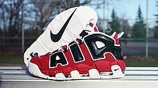 Мужские кроссовки Nike Air More Uptempo Black/White/Red 415 082 600, Найк Аир Мор Аптемпо, фото 3