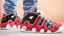 Мужские кроссовки Nike Air More Uptempo Black/White/Red 415 082 600, Найк Аир Мор Аптемпо, фото 2