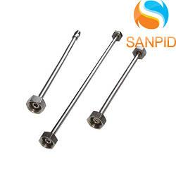 Трубка хромированная для подключения смесителей М10х1/2 В 0,8 м Albertoni
