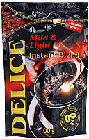 Кофе растворимый Delice mild&light 100 г пакет