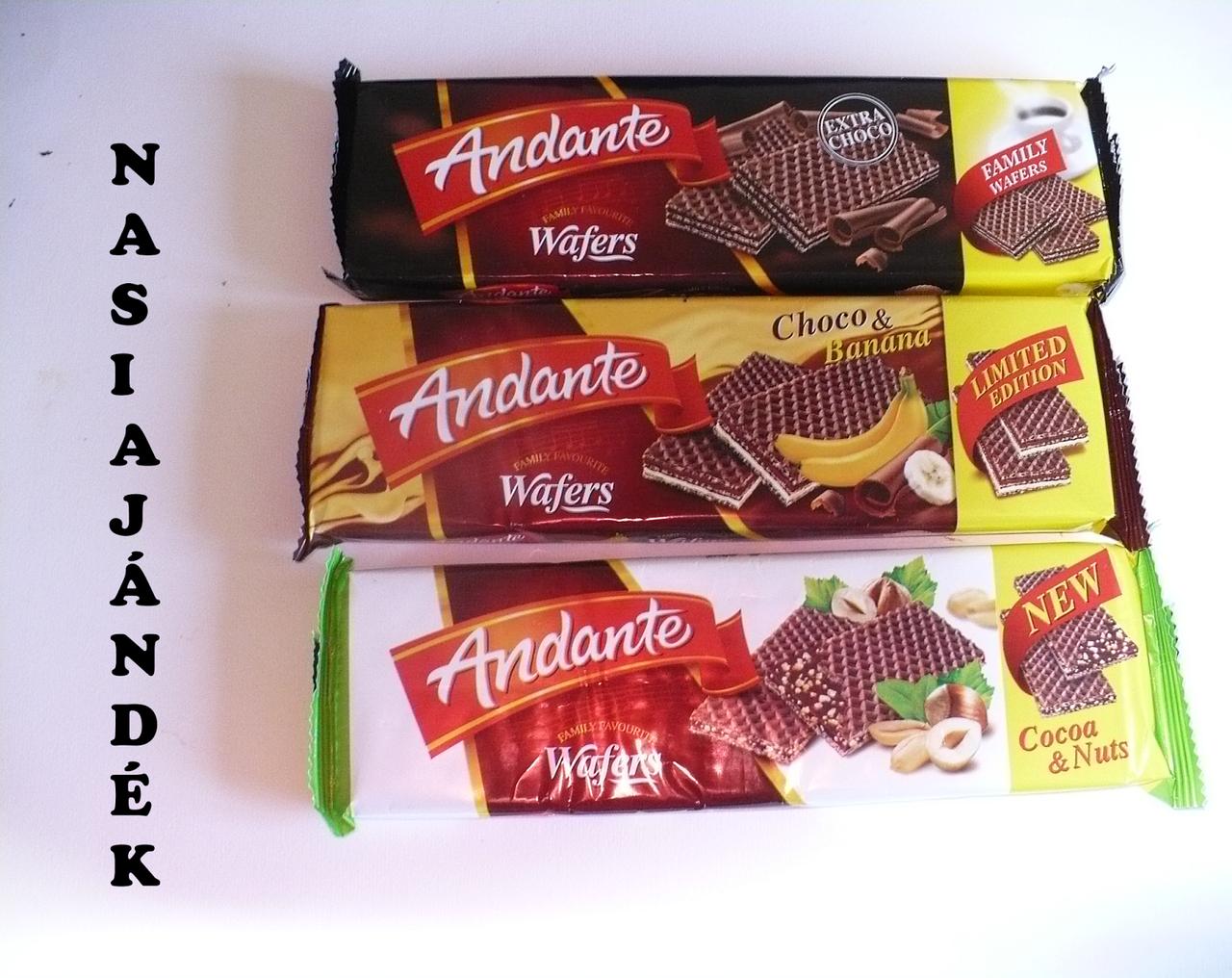 Вафли хрустящие Andante из Венгрии - натуральные большая упаковка!