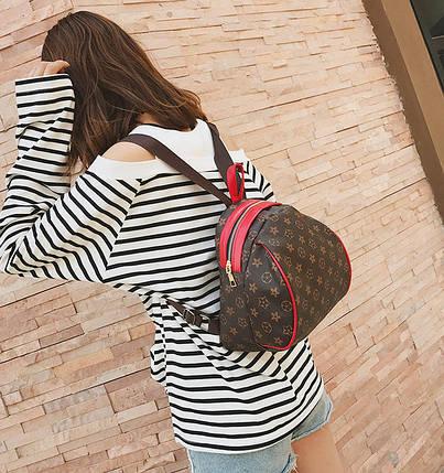 Трендовый рюкзак в ромбики выпуклой формы, фото 2