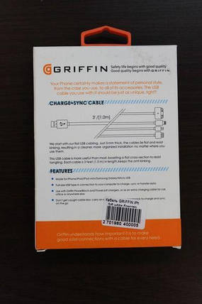 USB Cable Griffin iPhone 5/6, фото 2