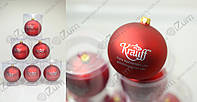 Печать логотипа на новогодних шарах