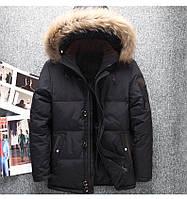 Мужская зимняя куртка пуховик в наличии! (YD7_01), черный. Размер 46-52