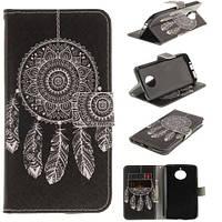 Чехол книжка TPU Wallet Printing для Motorola Moto E4 Plus XT1771 Feather Dream Catcher