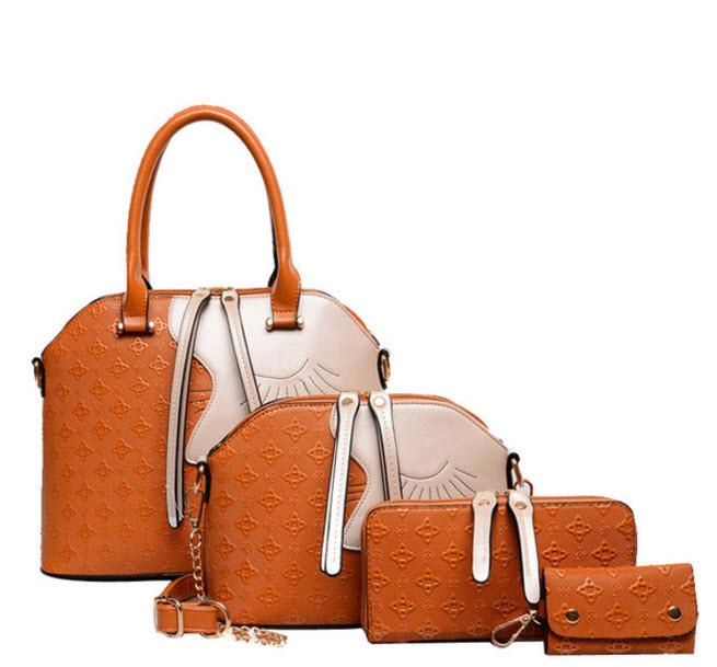 Элегантный набор женских сумок с оригинальным дизайном 4в1