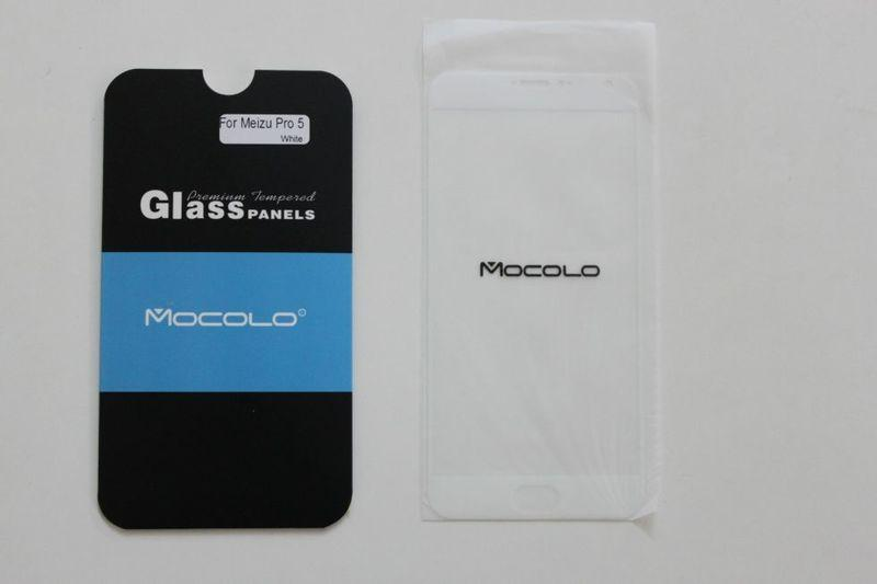 Защитное стекло Meizu Pro 5 Full Cover Black, White (Mocolo 0.33mm)