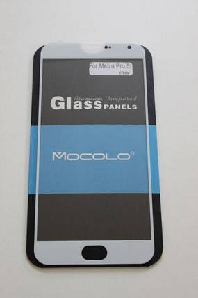 Захисне скло Meizu Pro 5 Full Cover Black, White (Mocolo 0.33 mm), фото 2