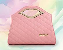 Каркасна дамська сумка з ручками-губами, фото 2