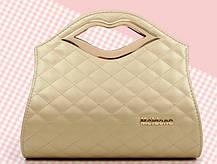 Каркасна дамська сумка з ручками-губами, фото 3