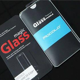 Защитное стекло Samsung Galaxy S6 Edge Plus (Mocolo 0,21мм) (Черное, прозрачное)