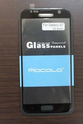 Защитное стекло Samsung Galaxy S7 Full Cover Black (Mocolo 0,33мм), фото 2