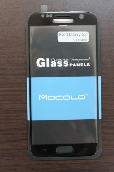 Защитное стекло Samsung Galaxy S7 Full Cover Black (Mocolo 0,33мм)