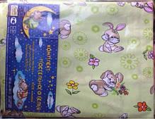 Комплект Постельное белье в кроватку (Зайки) 100% хлопок. код 19051