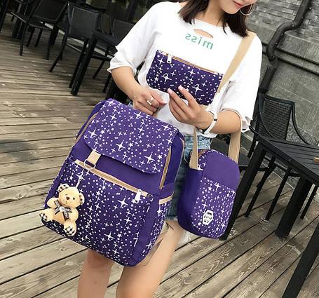 Большой звездный набор рюкзак, сумка и клатч, с брелком , фото 2