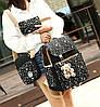 Большой звездный набор рюкзак, сумка и клатч, с брелком , фото 4