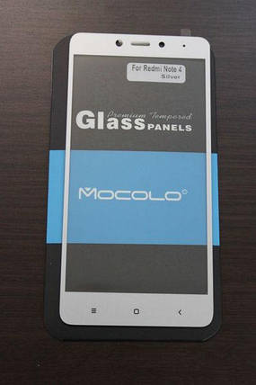 Защитное стекло Xiaomi Redmi Note 4 Full Cover  (Mocolo 0.33mm), фото 2