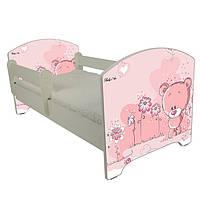 Детская кровать Oskar Розовый мишка 140 х 70 Baby Boo 100133