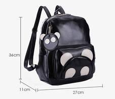 Большой черный рюкзак панда с брелком , фото 3